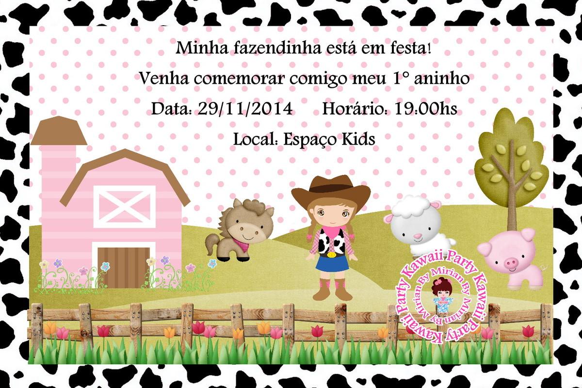 Convite Digital Fazendinha Rosa No Elo7 Kawaii Party 9dd2f8