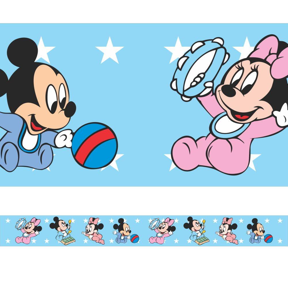 Faixa Border Mickey E Minnie Baby No Elo7 Tilli Decor 9e1661