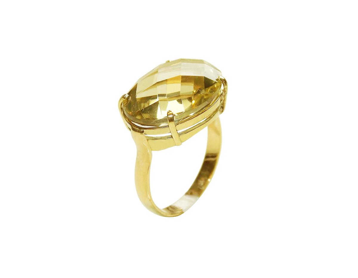 a17b4e19e1c72 Anel Pedra Brasileira em Ouro 18k no Elo7
