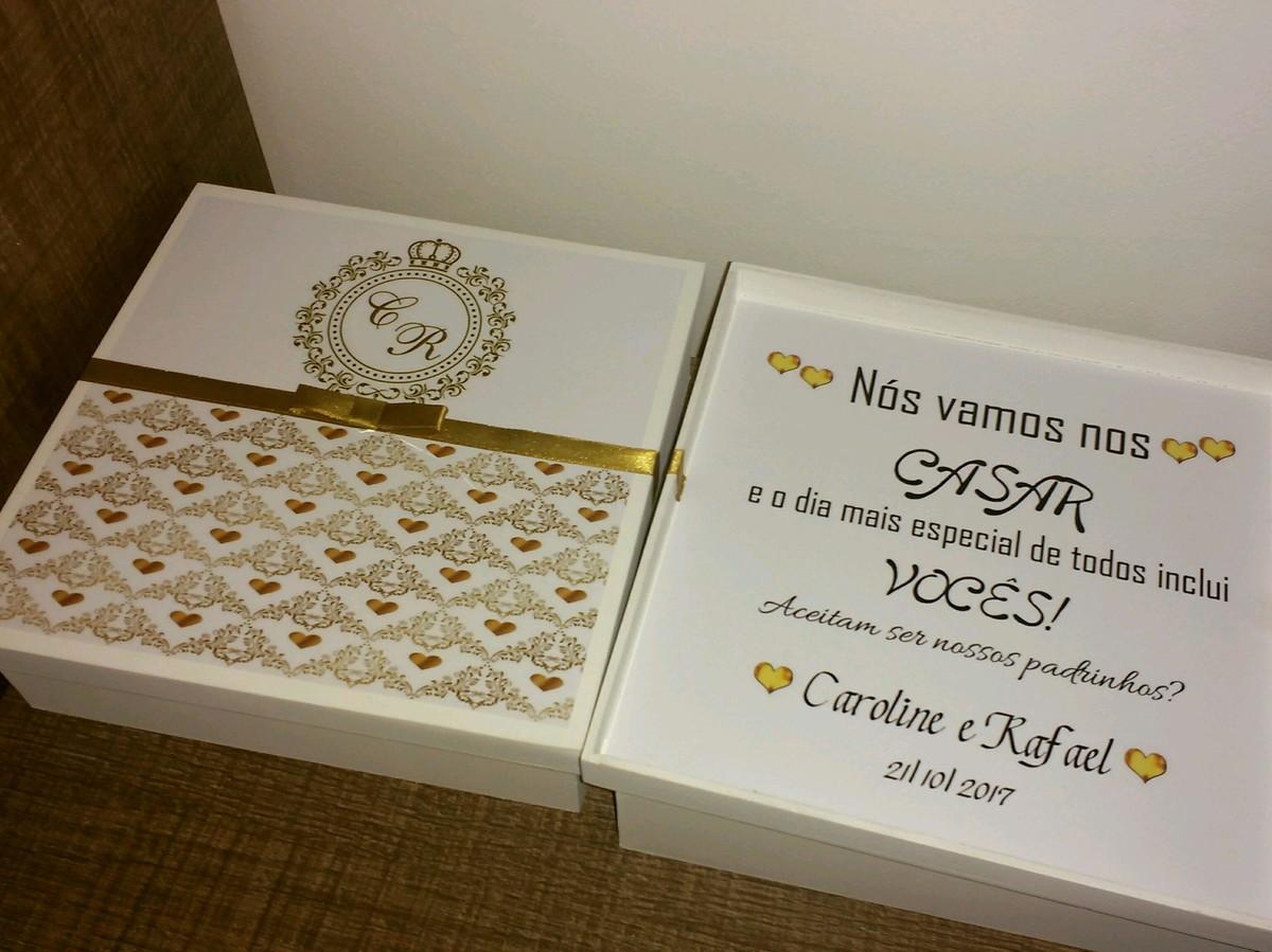 Favoritos Caixa MDF p/ convite padrinhos 20x20x5 no Elo7 | Nany Atelier (9E8B26) YS12