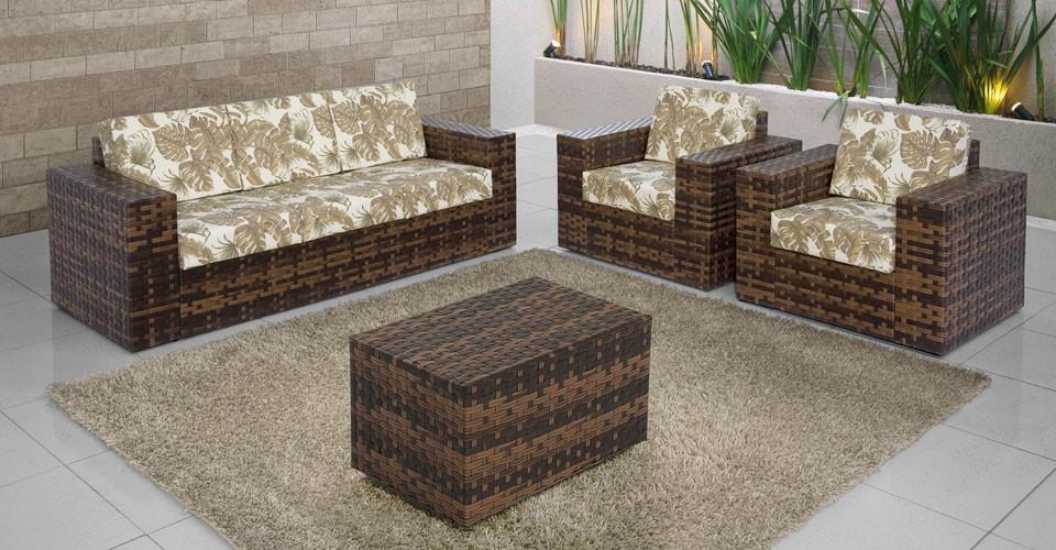 Jogo de sofá 3 lugares fibra sintésintética direto fabrica ...