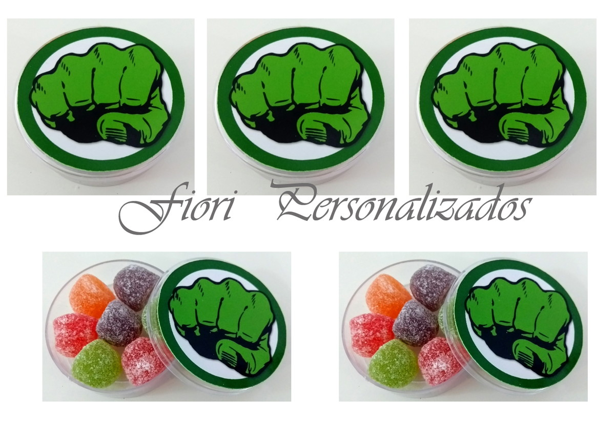 Lembrancinhas Latinha Soco Do Hulk No Elo7 Fiori Personalizados