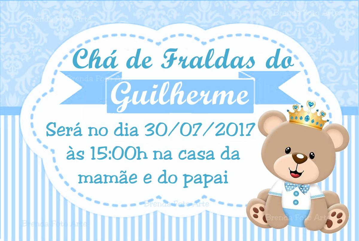 Convite Ursinho Príncipe No Elo7 Brenda Foto Arte 9eb820