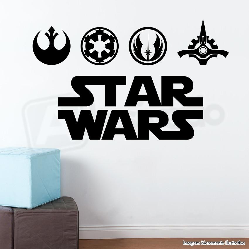 Adesivo decorativo de parede star wars iglu elo7 - Papel de pared decorativo ...