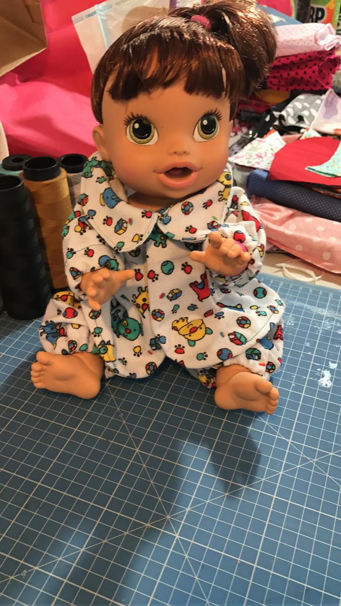 399894b0a Pijama de flanela Baby Alive no Elo7