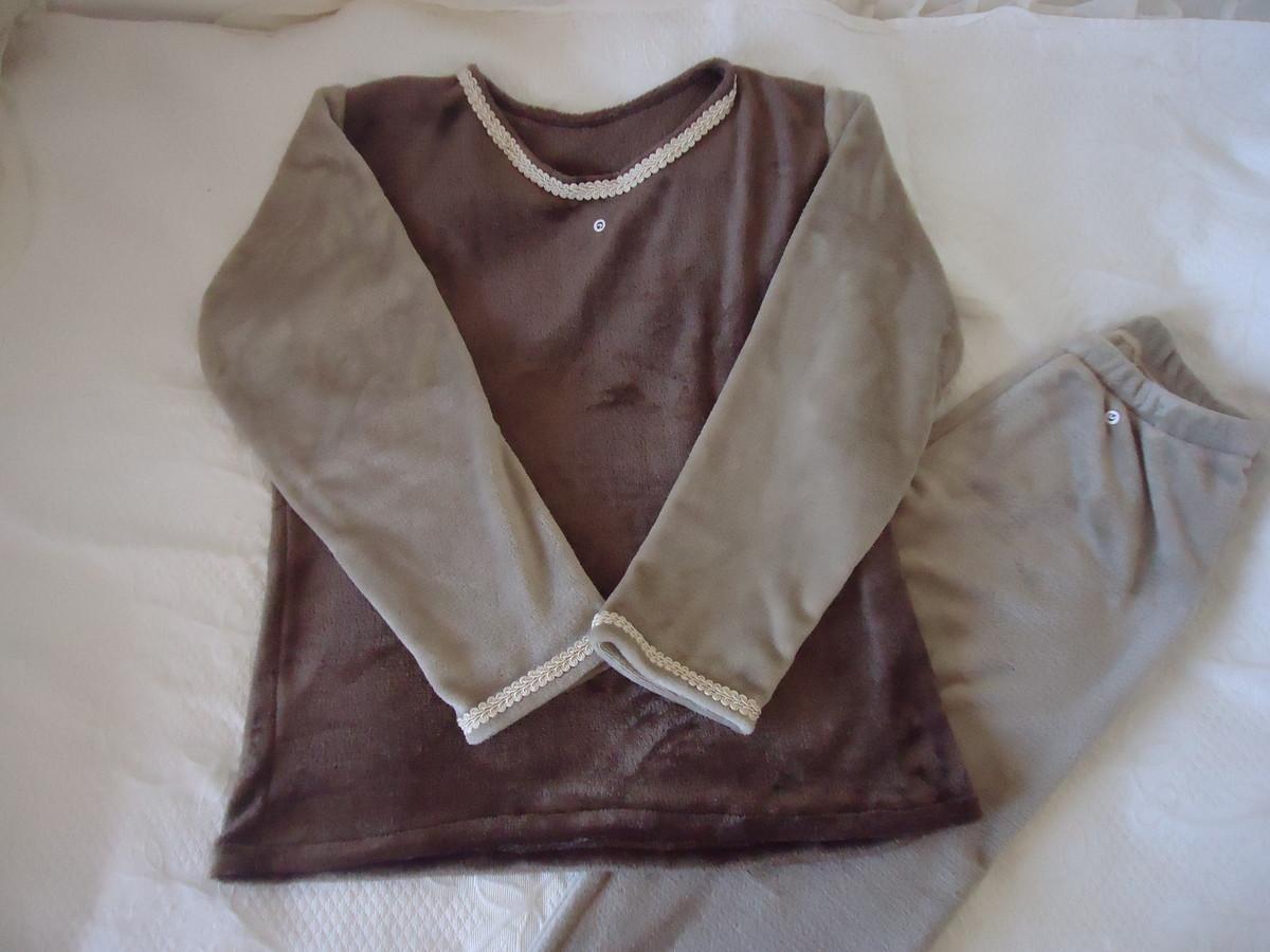 aa73d053c Pijama feminino Marrom tamanho GG no Elo7