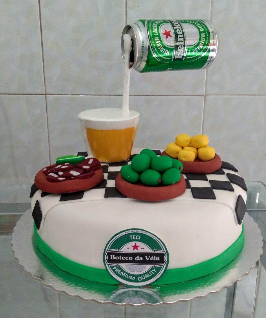 Cake Of Beer Bottle