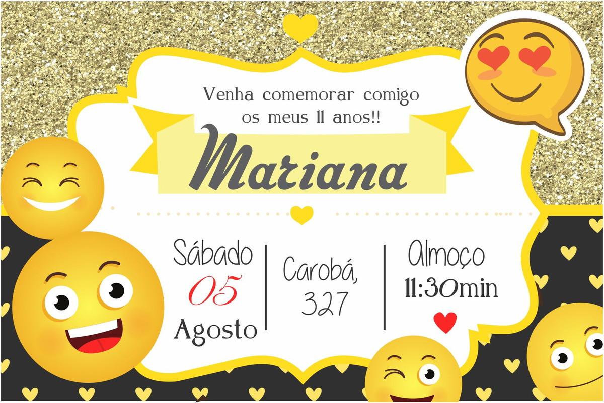 Artesanato Minas Gerais Comprar ~ Convite Digital Emojis no Elo7 ART DECORADA (9EFBFF)