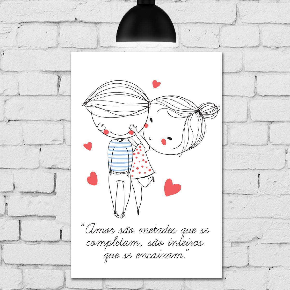 Placa Decorativa Frase Namorados Coração 20x30 No Elo7 Quartinhos