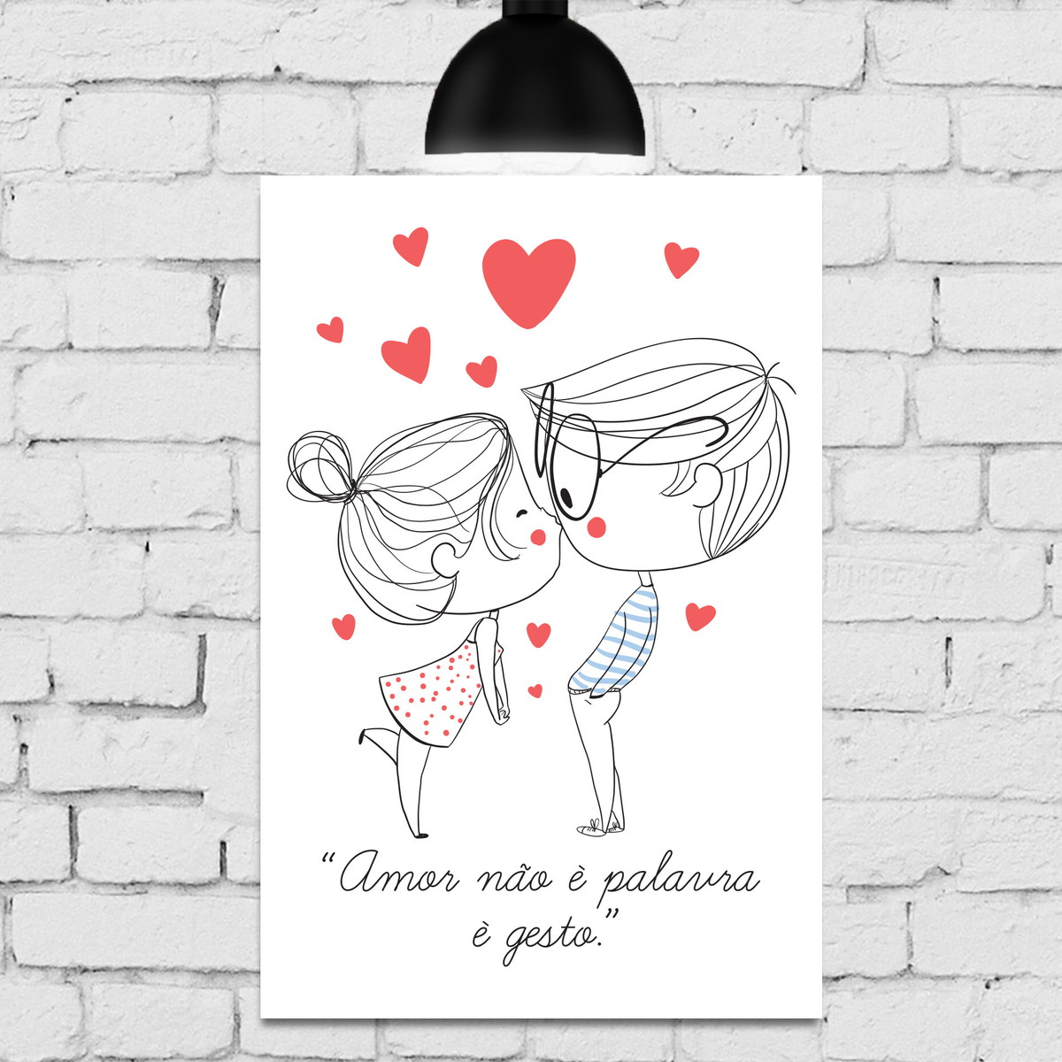 Placa Decorativa Mdf Frase Namorados Casal Coração No Elo7