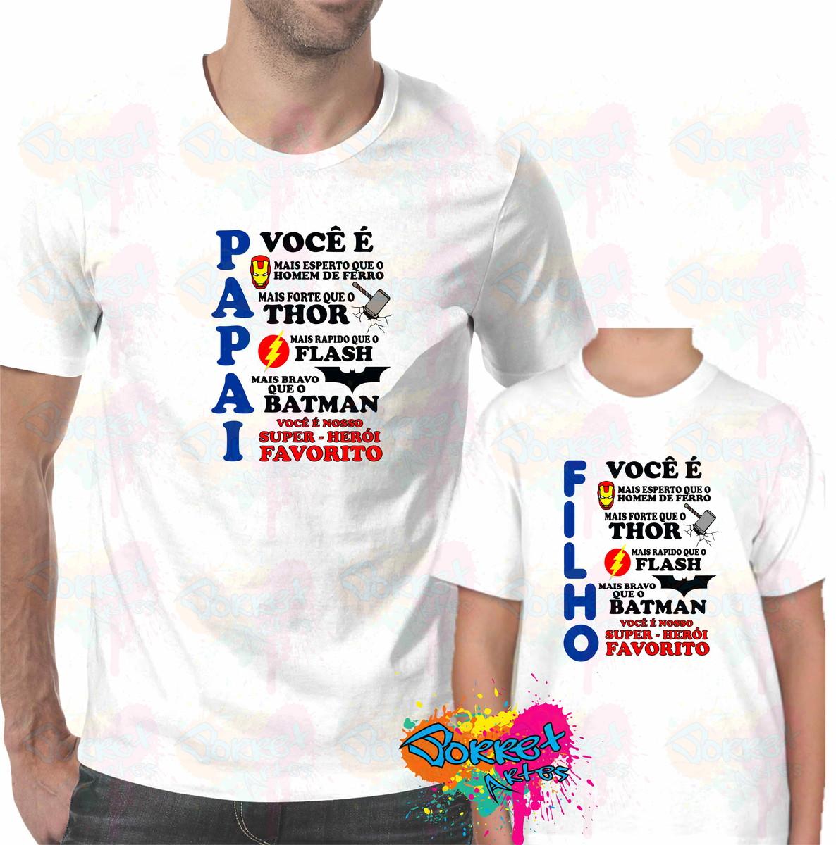 f8791905b Camisa Tal Pai Tal Filho (a) no Elo7