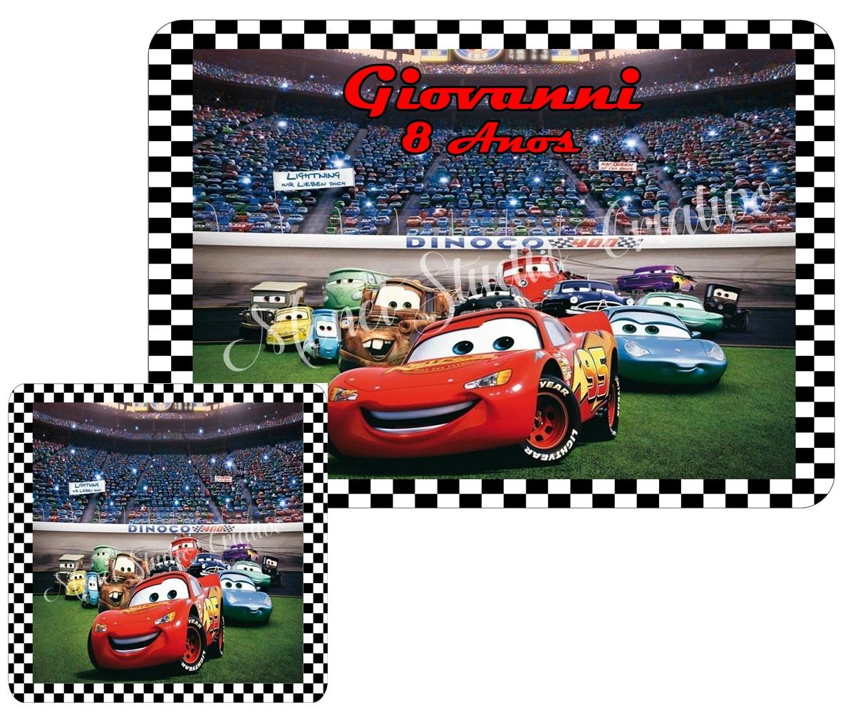 2aca218a8c Jogo Americano - Carros 03 no Elo7