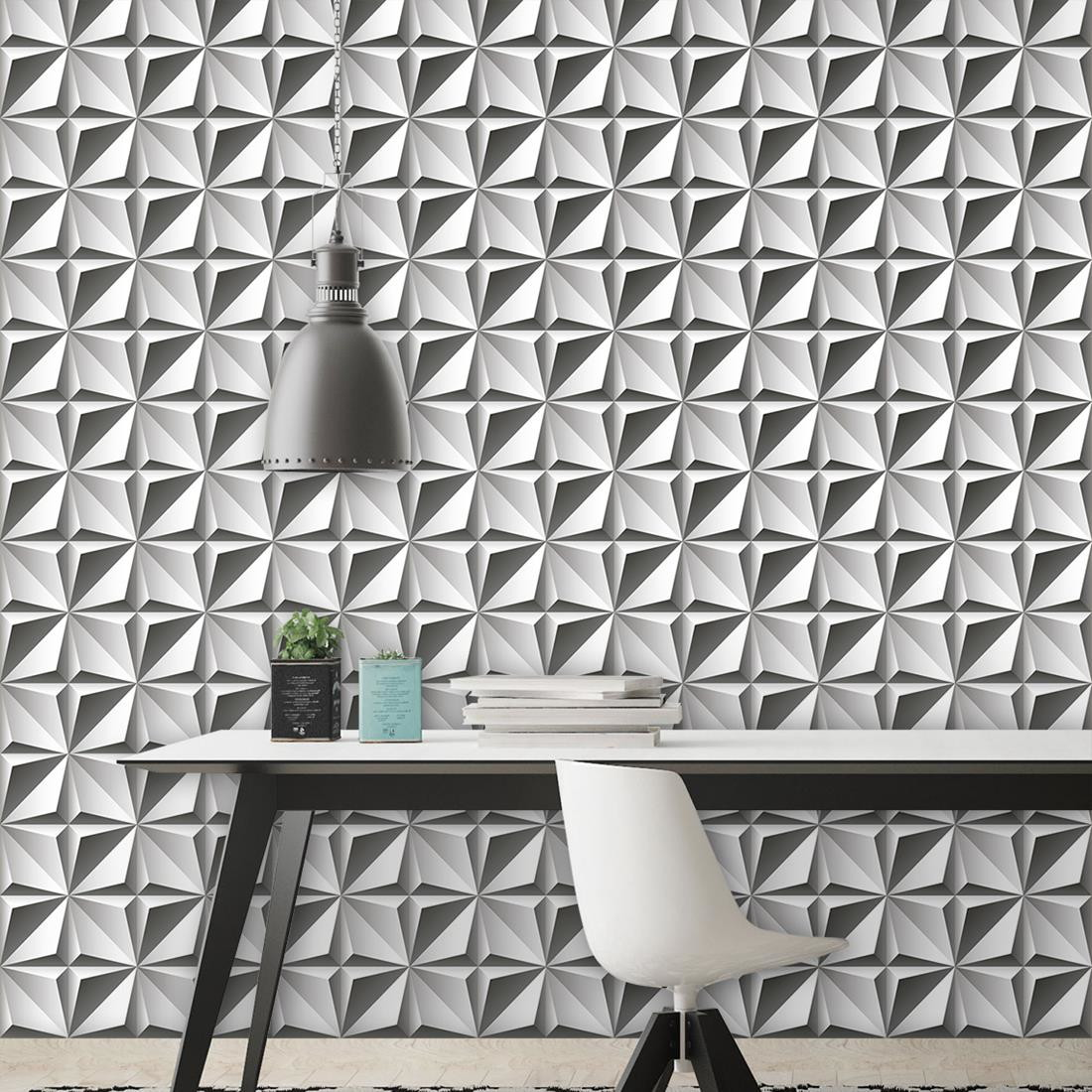 Papel de parede adesivo efeito 3d no elo7 paper factory for Papel pintado para paredes 3d