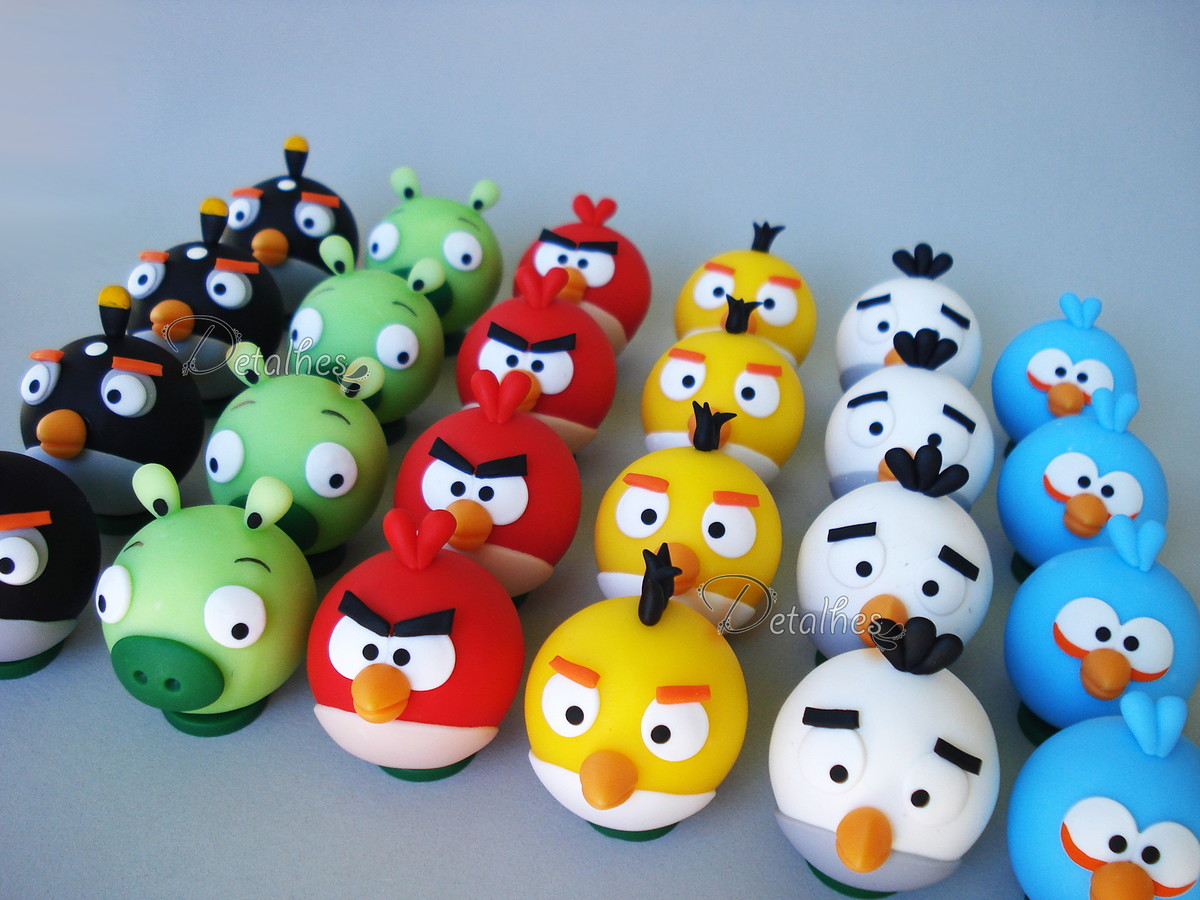 Personagem Angry Birds: Mini Personagens Angry Birds No Elo7