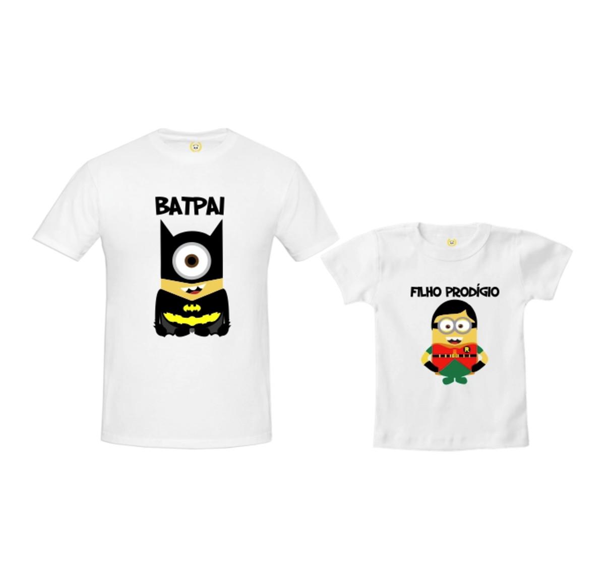 Kit Camiseta Minions Batman e Robin no Elo7  ef9504566f1
