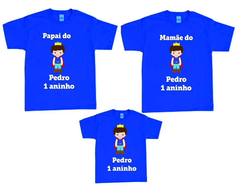 3bd1b59ee9 Camisetas Aniversario Rei Arthur - 3 unidades - NG no Elo7