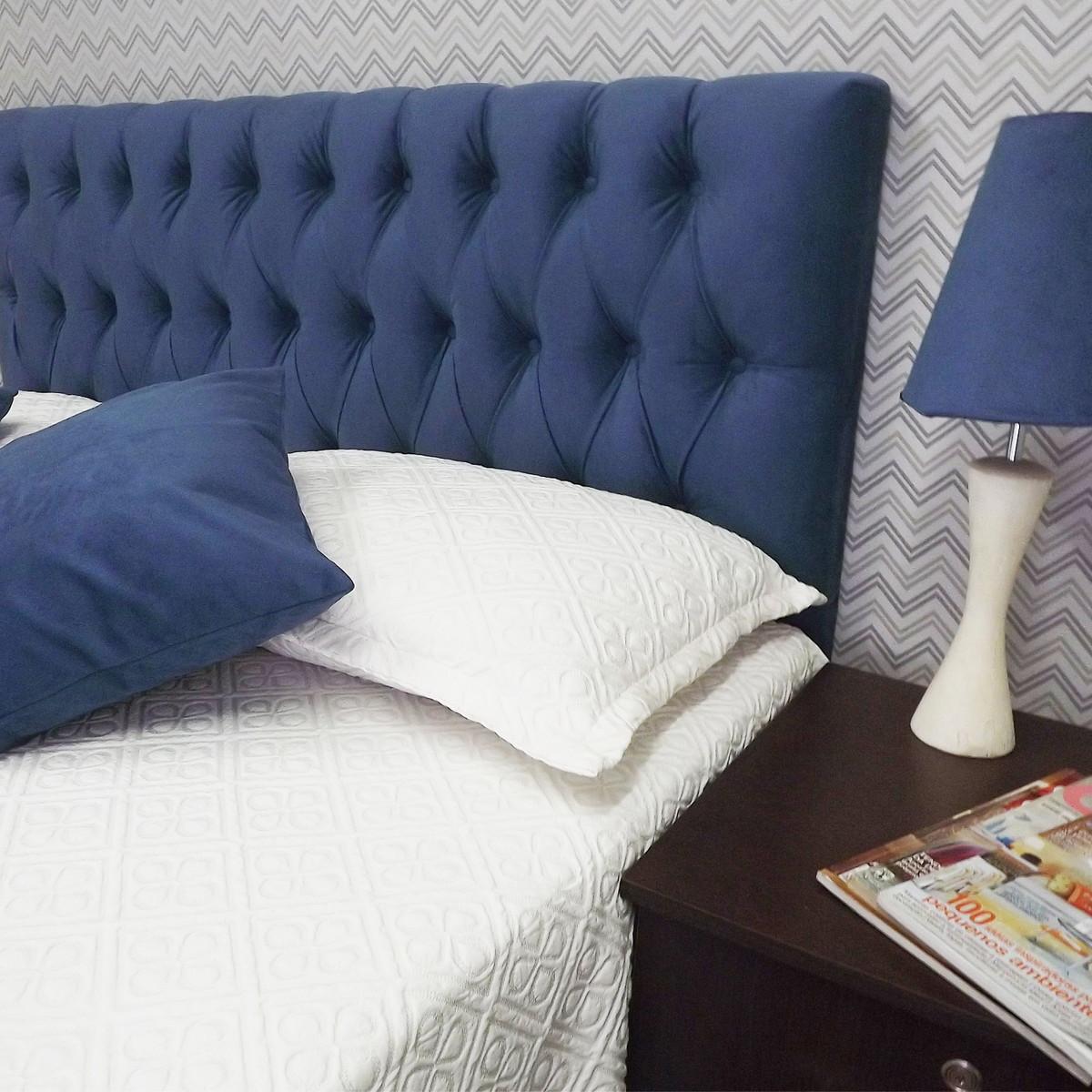 4e67d9ce5 Cabeceira Capitone Vintage Azul Royal 90 x 60 no Elo7