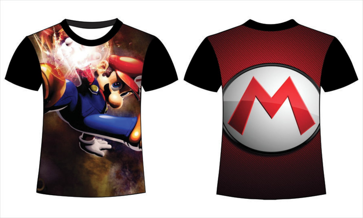 Camiseta Mario Bros Sublimação Total no Elo7  b2f06cb7114ad