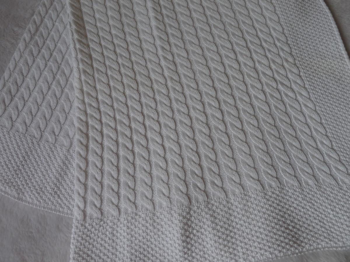 Manta Trança Branca no Elo7  9f231f8bdb5