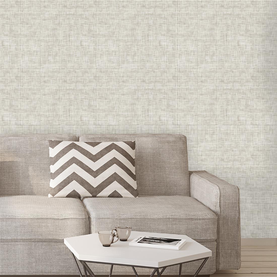 Papel de parede adesivo de linho no elo7 paper factory - Papel pared online ...