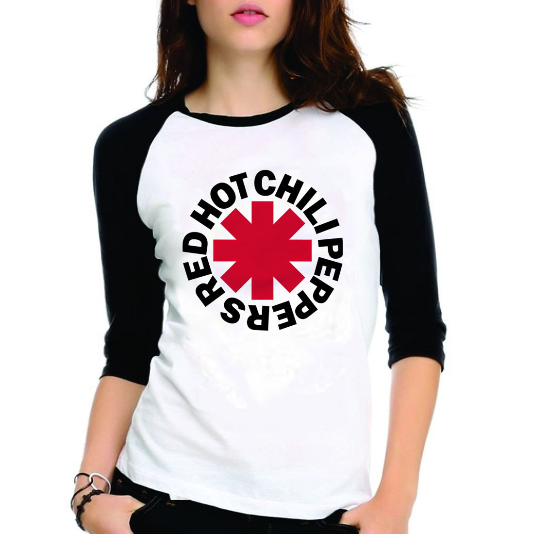 55cd902f31 Camiseta Red Hot Chili Peppers 3 4 no Elo7