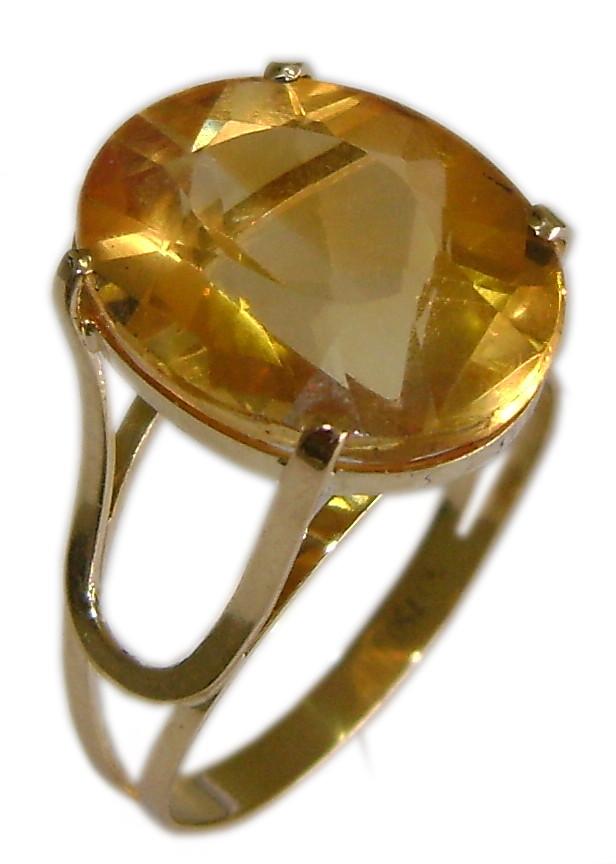 84380635f4c8d Anel de Ouro 18 k com Pedra Natural Oval no Elo7