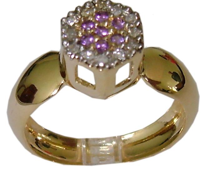 be8e4c190d234 Anel de Ouro 18 k com Diamantes e pedras no Elo7   DSR Jóias (A0E383)