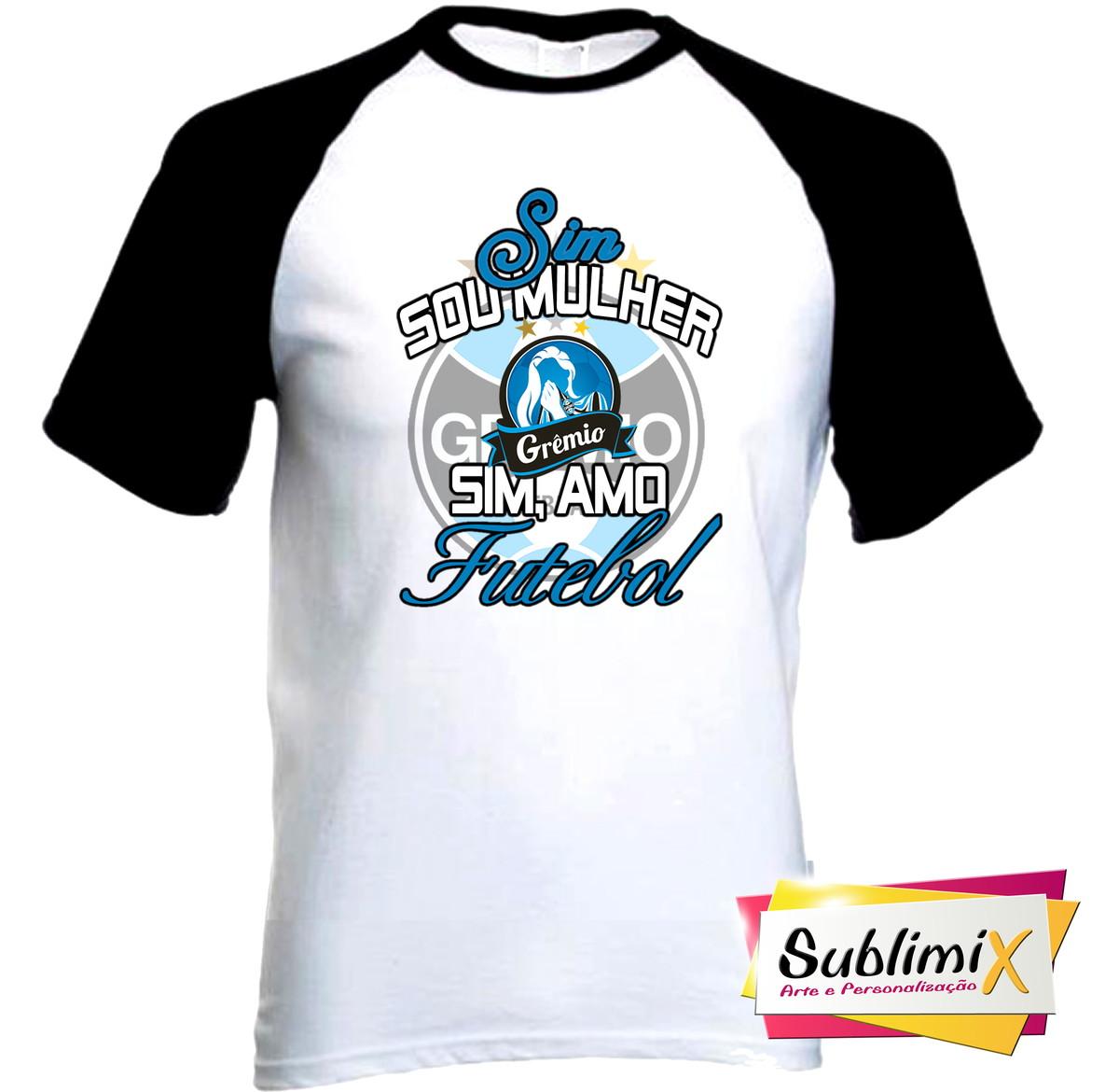 Camiseta Raglan de poliéster Grêmio no Elo7  eeac859c6520d