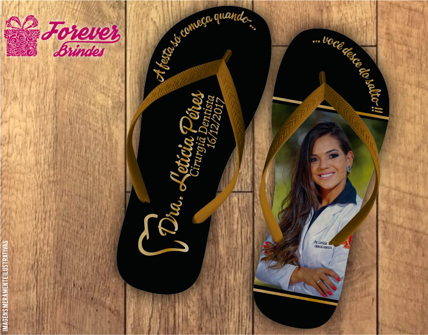 dae8c6360 CHINELO - Formatura Odontologia no Elo7 | FOREVER BRINDES CHINELOS ...