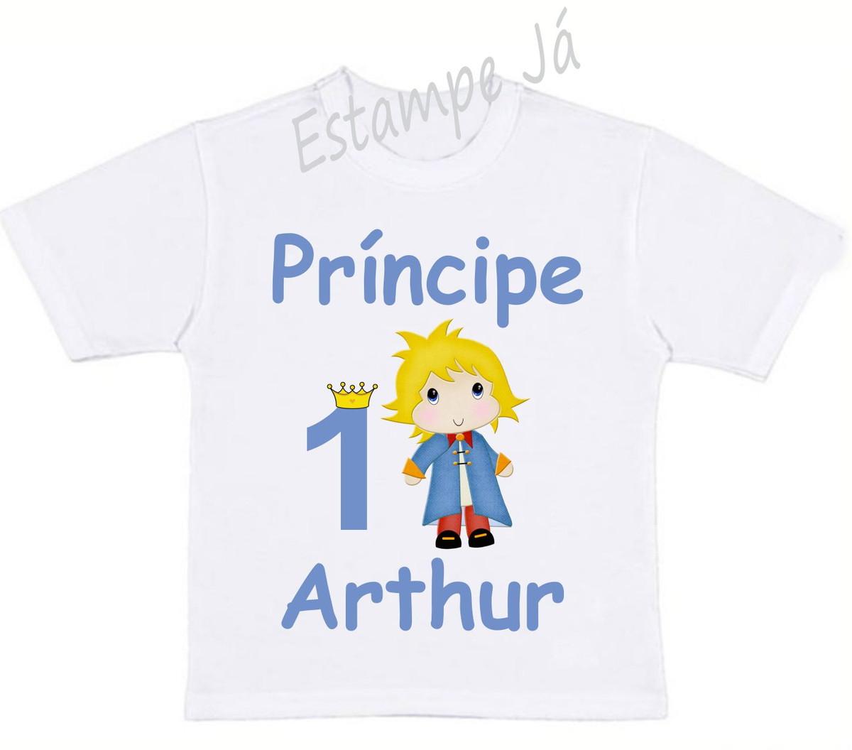 6a55e3e7e23 Camiseta Personalizada do Pequeno Príncipe no Elo7
