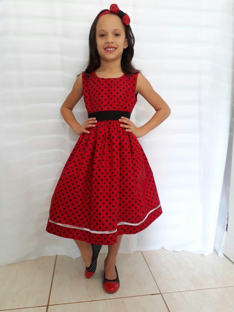 ba25832dc Vestido Ladybug Bolinhas no Elo7 | Outlet Kids (A12BF5)