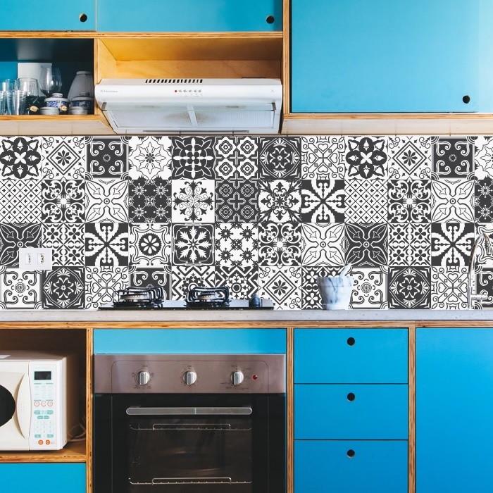 Adesivo Azulejos Cozinha Retrô Preto No Elo7 Colou Adesivos A152d8