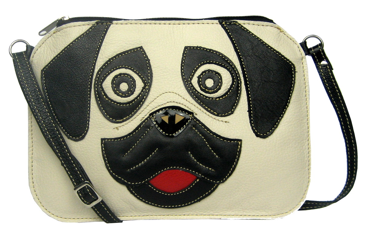 1d7241749 Zoom · Bolsa Feminina Couro Legit Transversal Tiracolo Cachorr Pug bolsa -transversal-tiracolo-cachorro-pug-clutch. Favoritar