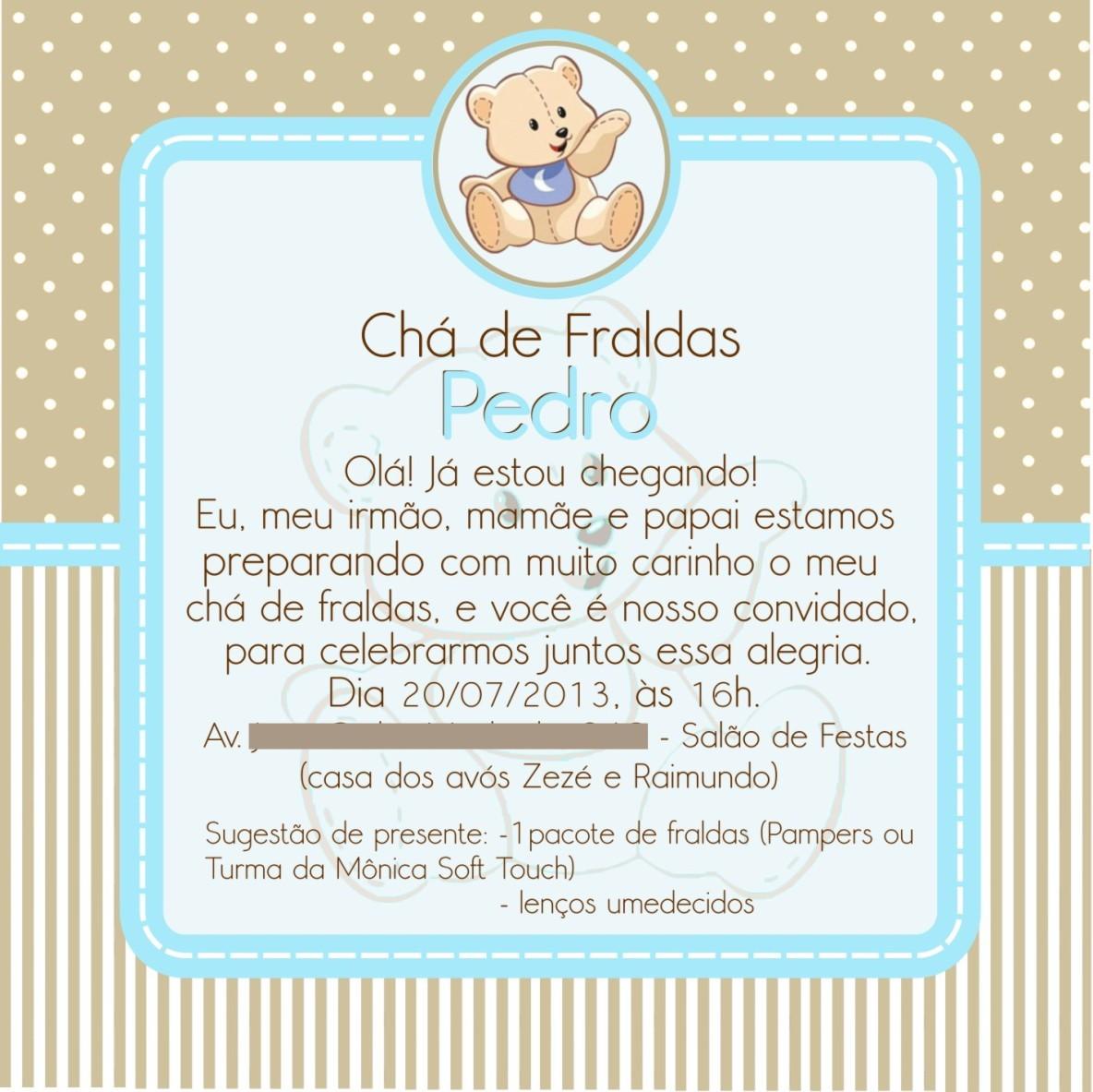 Convite Chá De Fralda No Elo7 Luciartselo7combr 459180