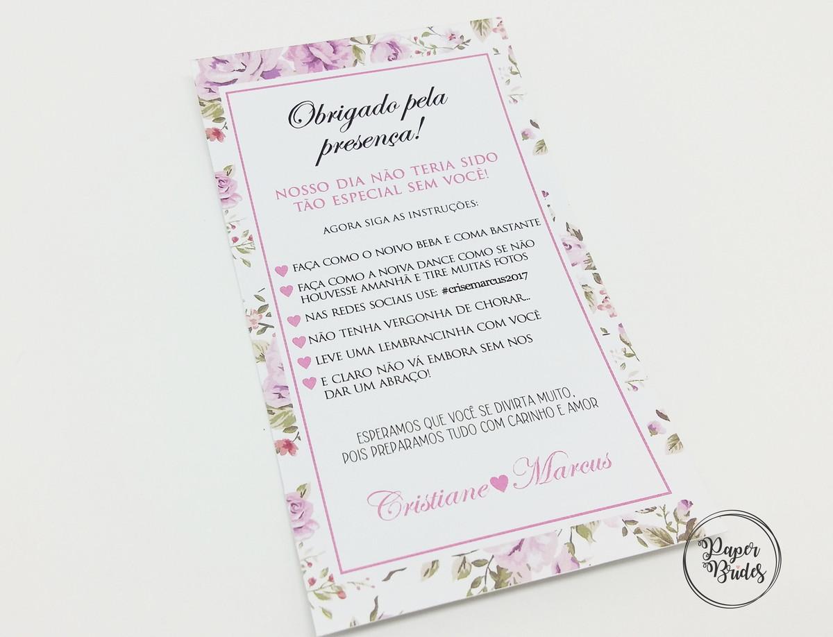 Cartões De Casamento: Cartão Agradecimento Casamento No Elo7