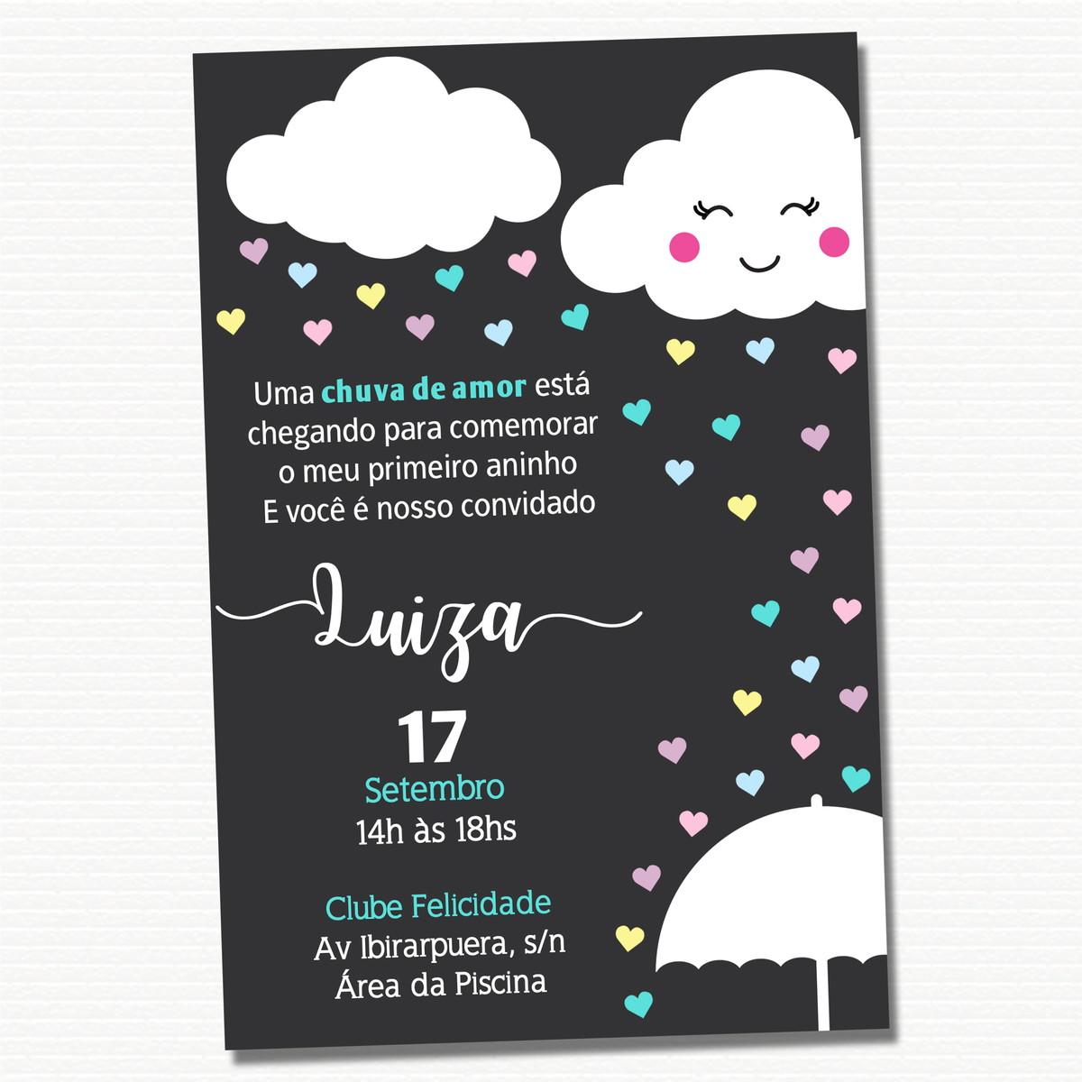 Convite Digital Chuva De Amor No Elo7 A Casa Criativa A1a1e8
