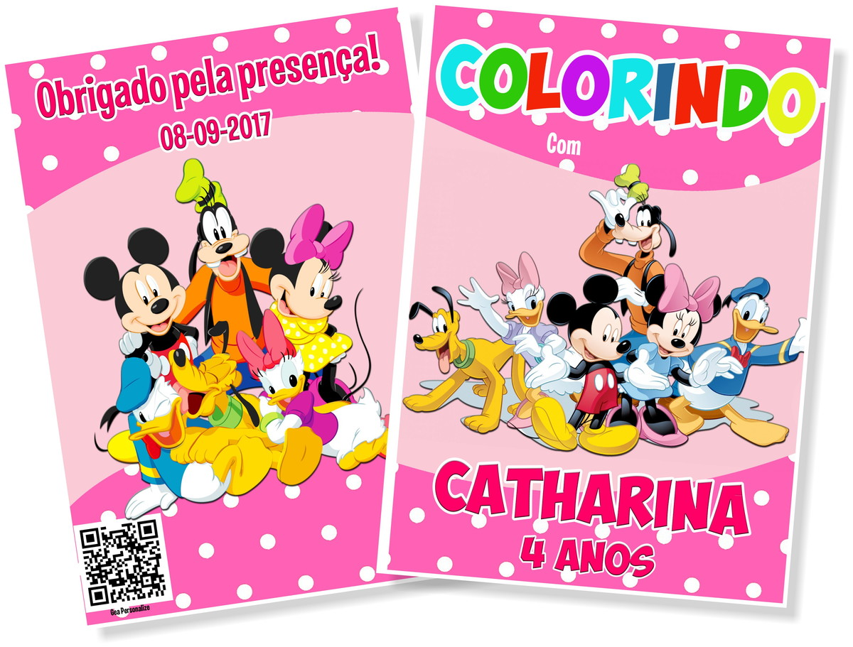 Livro De Colorir 10x15 Turma Do Mickey No Elo7 G A Personalize