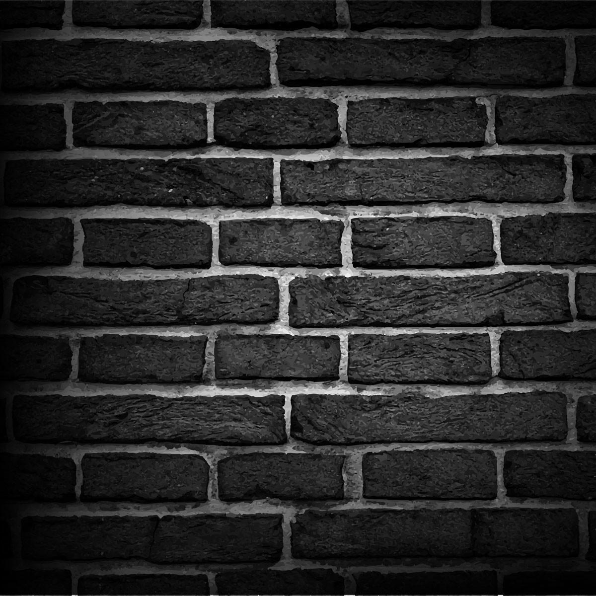 Papel de parede tijolos preto no elo7 virgus adesivos for Papel para paredes catalogo