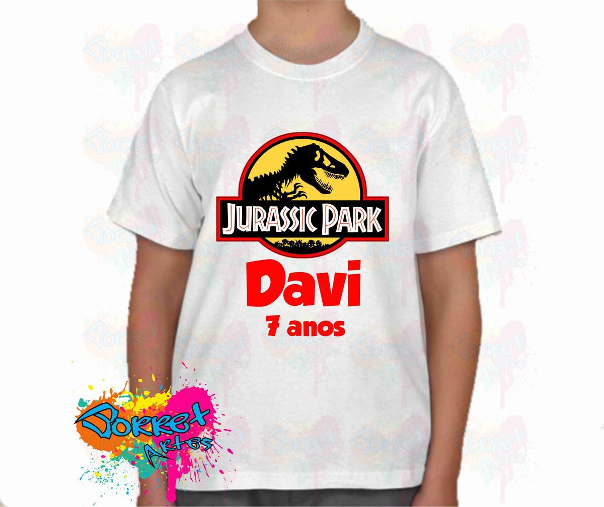 a6642e3aa9e9f Camisa Infantil Personaliza Jurrasic Par no Elo7