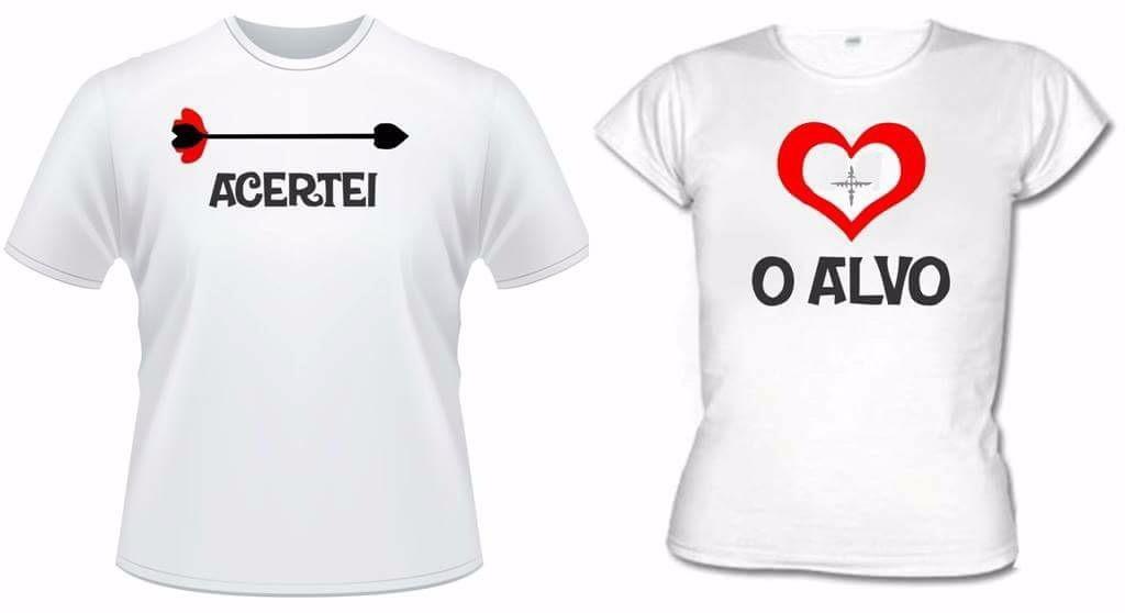57ac7a5911 Camisas personalizada para casal no Elo7