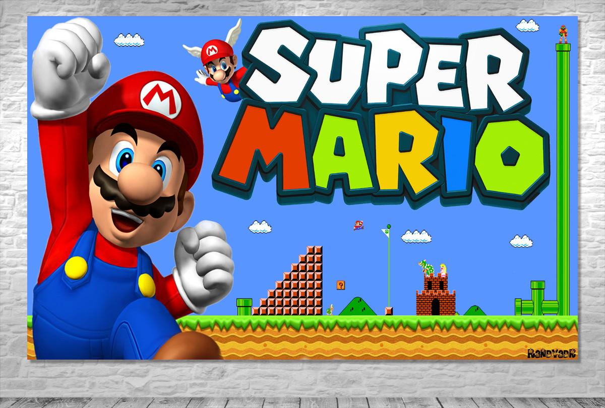 Painel Super Mario Frete Gratis No Elo7 One Artes A1ff3d