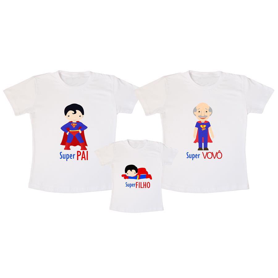 d6b301fcb9c659 Kit Camisas Pai, filho e avô