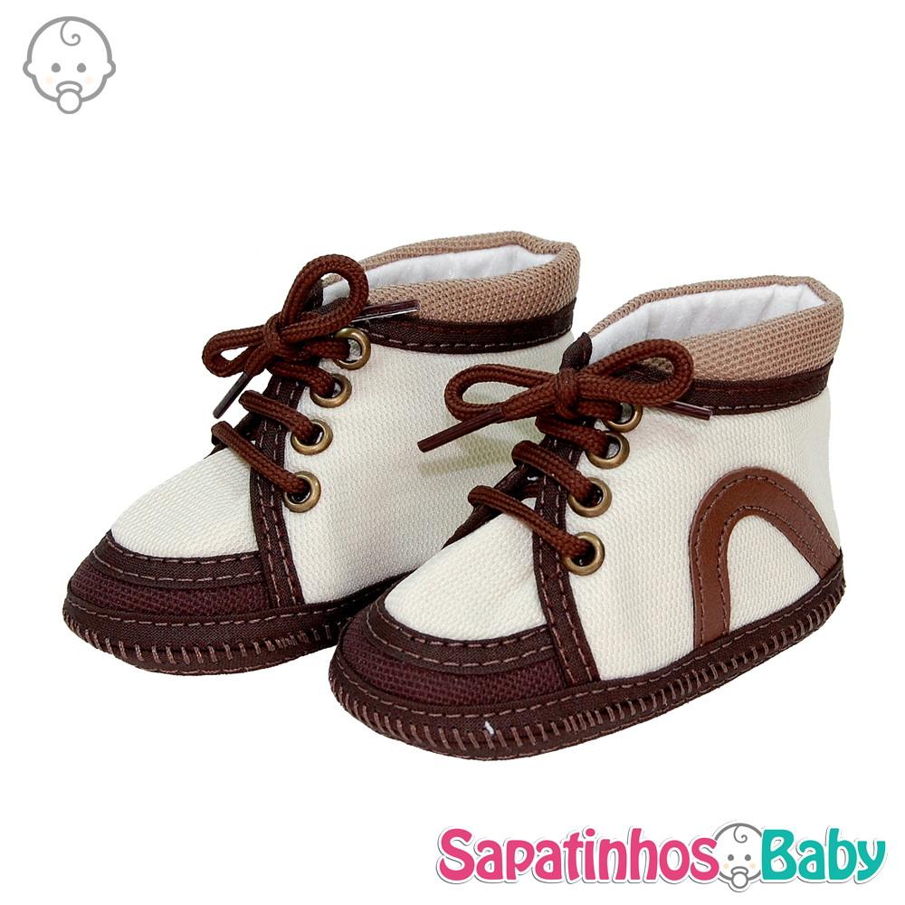 fae90dcae Tênis Alto Confort Marrom - Ref.MTE0136 no Elo7 | Sapatinhos Baby ...