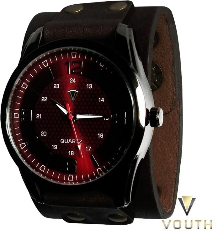 519f0549f36 Relógio Com Bracelete De Couro Masculino no Elo7