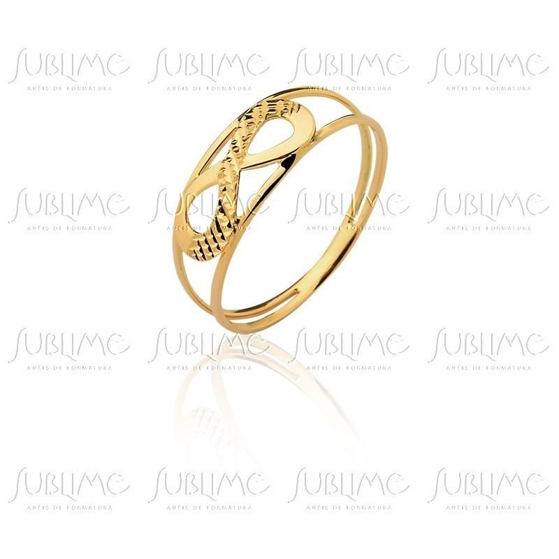 8625660d6e7dc anel infinito ouro 18k puro no Elo7   SUBLIME JOIAS (A27A60)