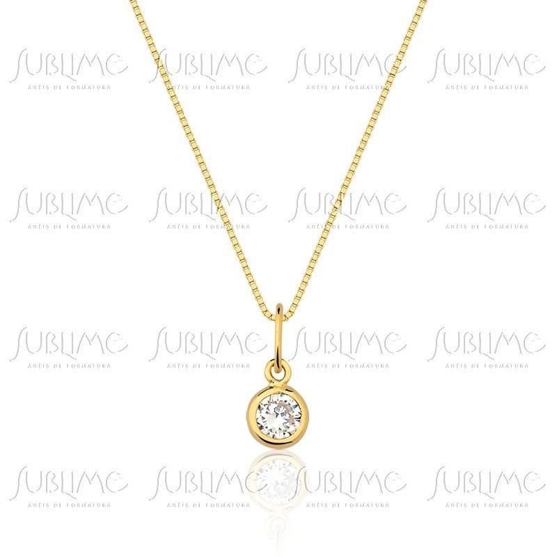 Ponto de Luz Ouro 18k Gargantilha 45cm no Elo7   SUBLIME JOIAS (A28AEE) 0f09f5a081