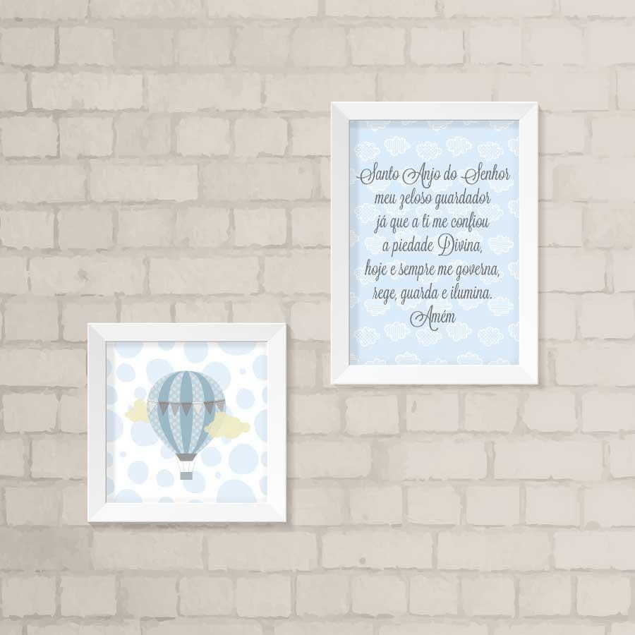 Zoom · Kit Quadros Infantil - Santo Anjo 214d95373ca01
