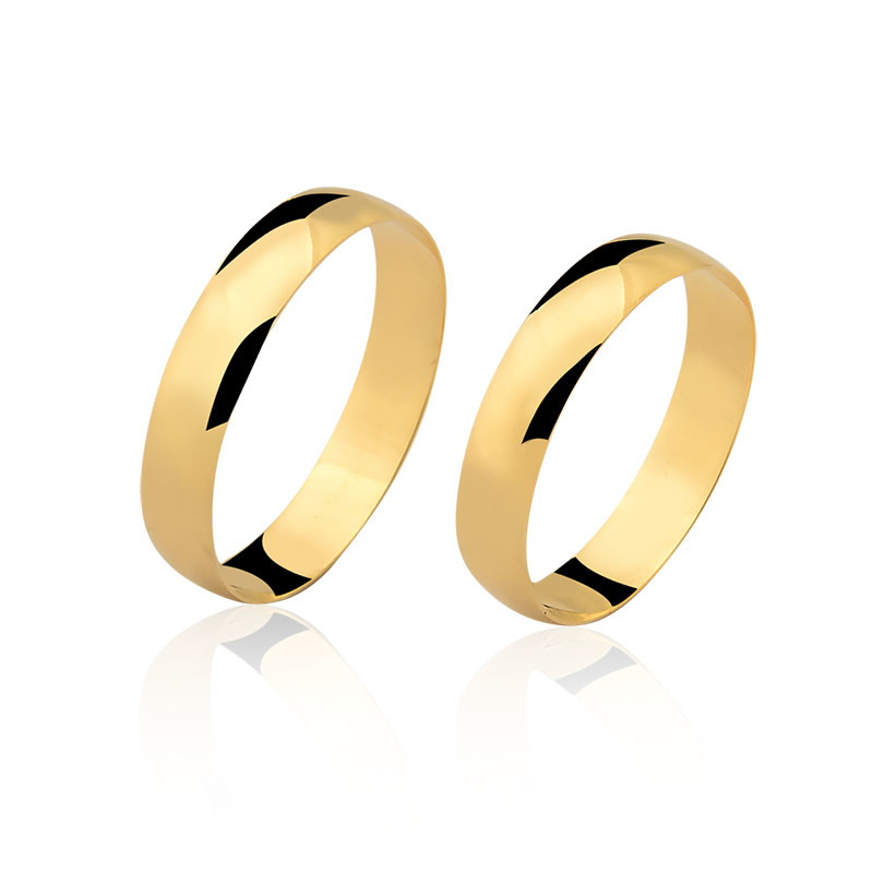 62552347f560a par de alianças 4mm ouro 18k puro no Elo7   SUBLIME JOIAS (A29055)