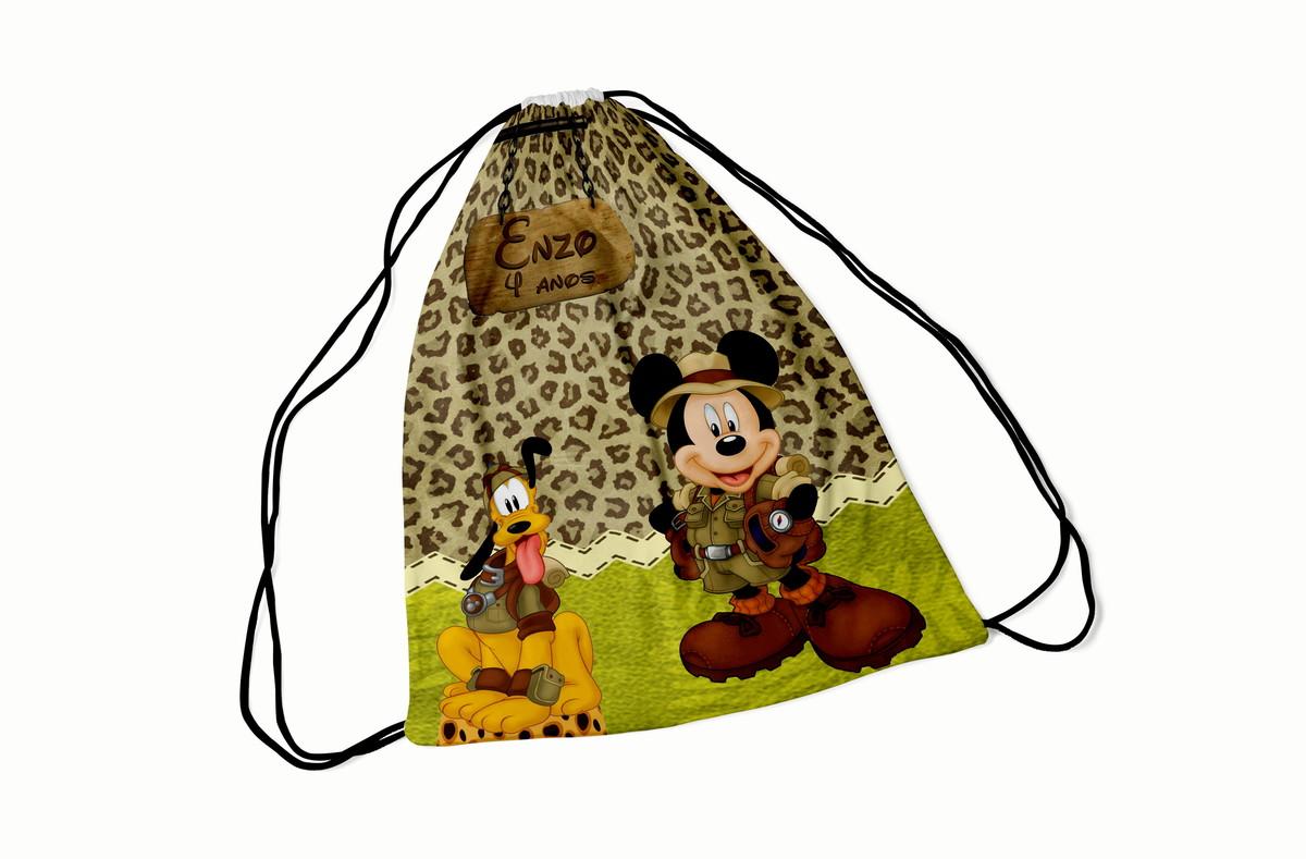 fa1ee368c Lembrancinhas Mickey Safari - Mochila saco 20X30 cm no Elo7 | Top ...
