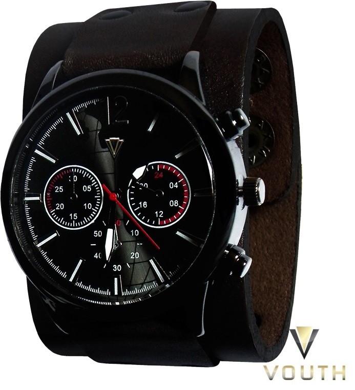 e6df0726bb1 Relógio Bracelete de Couro Masculino no Elo7